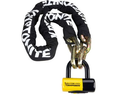KRYPTONITE New York Fahgettaboudit chain andchain and NY disc lock 150 cm