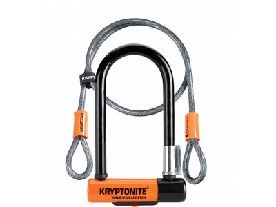 KRYPTONITE Evolution Mini 7 Dead Bolt Lock with 4ft Kryptoflex Cable with FlexFrame Bracket