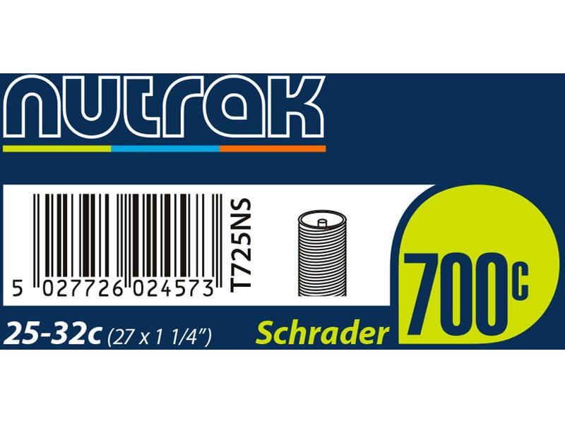 NUTRAK 700 x 25 - 32C (27 x 1-1/4 inch) Schrader inner tube click to zoom image