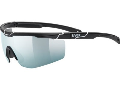 UVEX Sportstyle 117 Glasses  Black Matt/White  click to zoom image