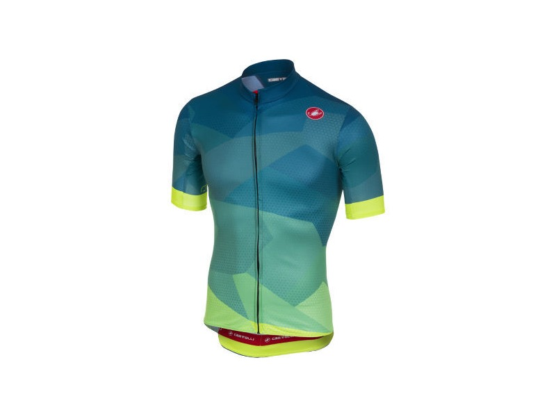 CASTELLI FLUSSO JERSEY FZ Blue/Yellow Fluo click to zoom image