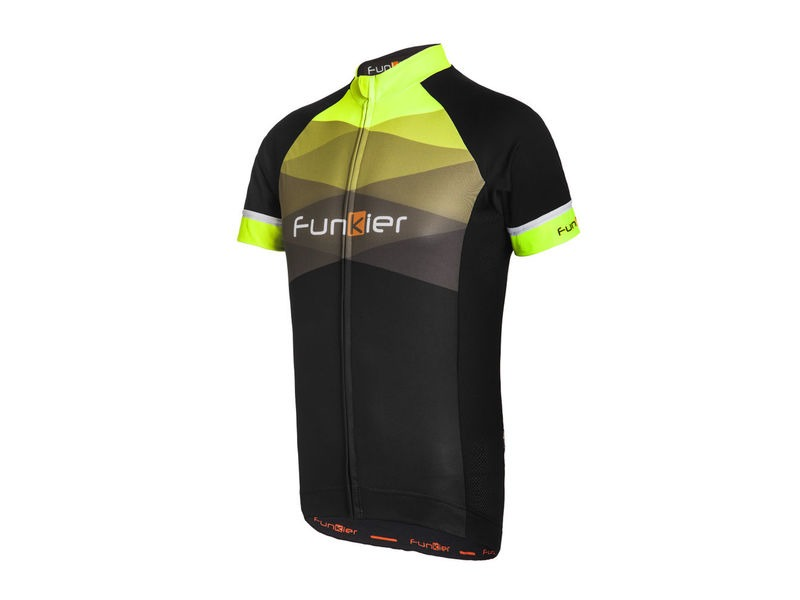 FUNKIER Rideline Gents Short Sleeve Jersey 2017 Black/Yellow click to zoom image