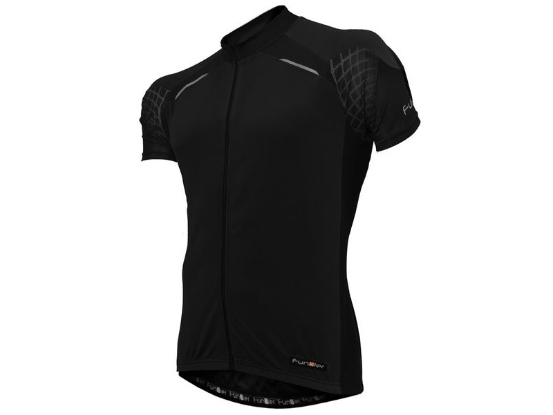 FUNKIER Stream Gents Short Sleeve Jersey in All-Black click to zoom image