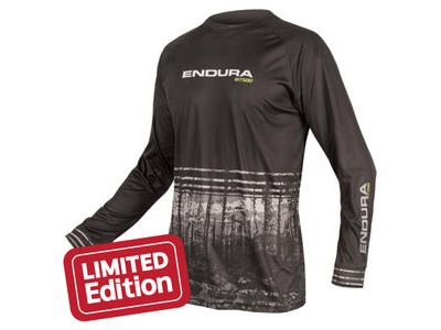 ENDURA MT500 L/S PRINT T II LTD Black
