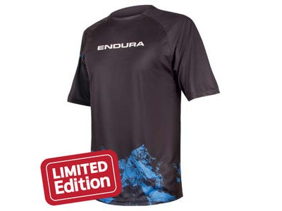 ENDURA SINGLETRACK PRINT T MOUNTAINS Navy