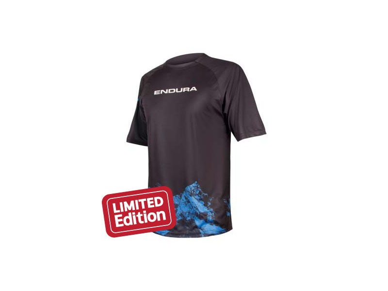 ENDURA SINGLETRACK PRINT T MOUNTAINS Navy click to zoom image